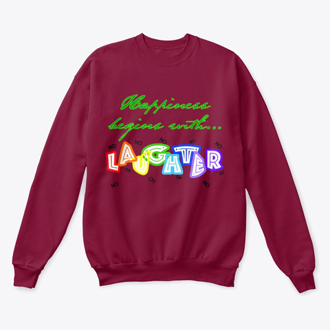 Happiness Begins With... Xmas! Cardinal  T-Shirt Front