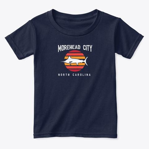 Morehead City 1 Navy  T-Shirt Front