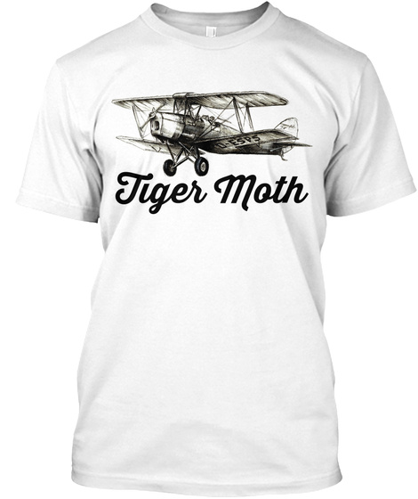 Tiger Moth White T-Shirt Front