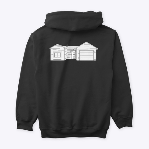 Classic Burbs Hoodie   All Colors Black T-Shirt Back