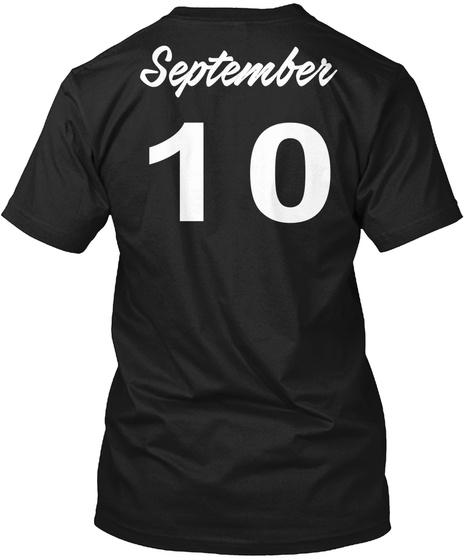 September 10   Virgo Black T-Shirt Back