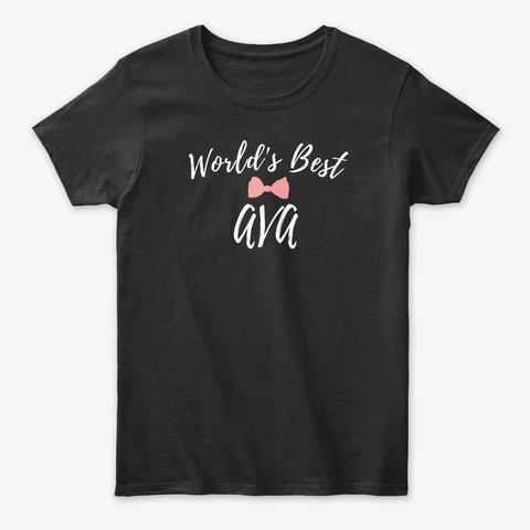 World's Best Ava Black T-Shirt Front