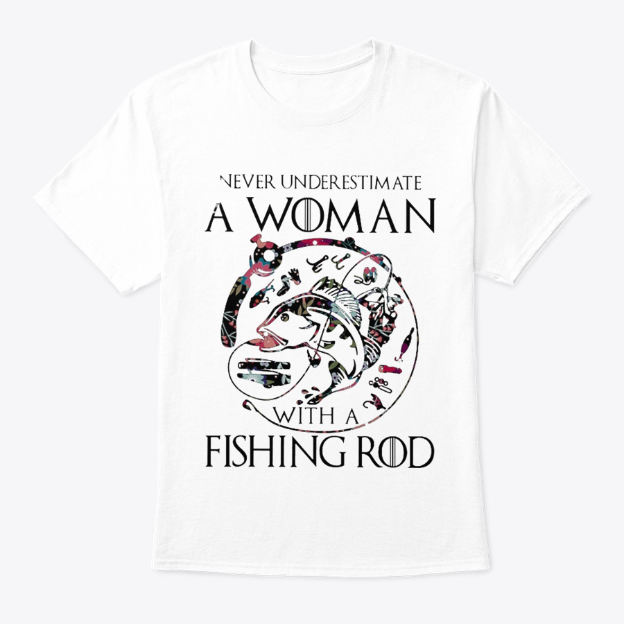 Woman With A Fishing Rod Unisex Tshirt