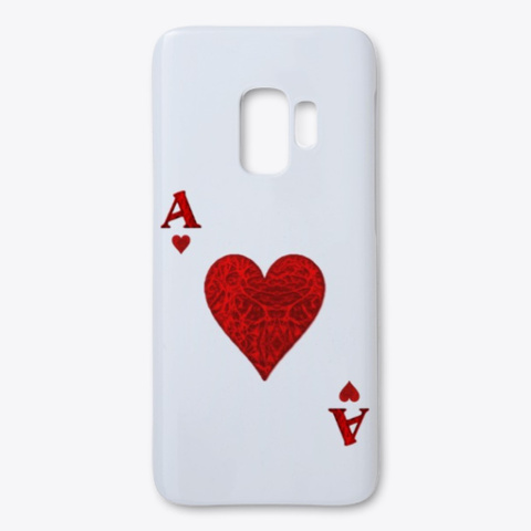 Ace Of Hearts White T-Shirt Front
