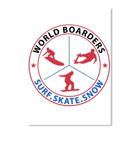 World Boarders   Stickers White Sticker Front