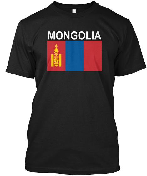 Mongolia Black T-Shirt Front