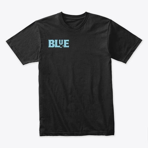 Blue / Portland Me Black T-Shirt Front