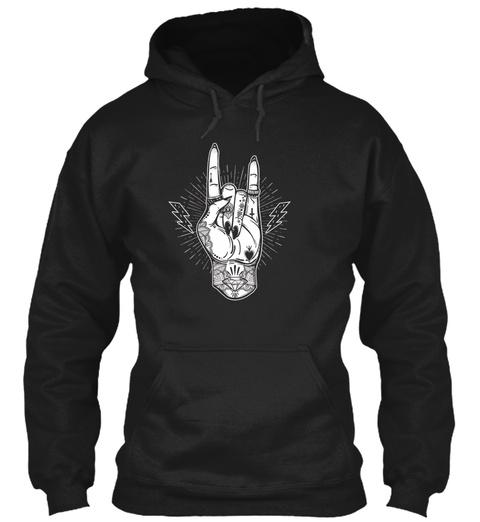 Mens Rock And Roll Tshirt   Festival Art Black T-Shirt Front