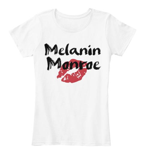 Melanin Monroe White T-Shirt Front