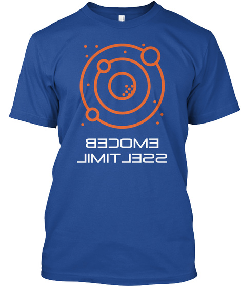 Become Limit Less Deep Royal T-Shirt Front