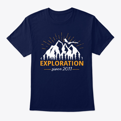 Exploration Dark Navy T-Shirt Front