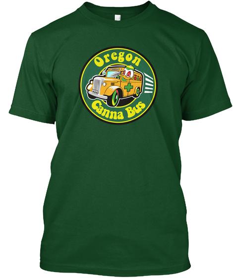 Oregon Canna Bus T Shirt Deep Forest T-Shirt Front