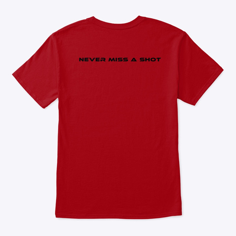 P.O.V Pool   Basic Deep Red T-Shirt Back