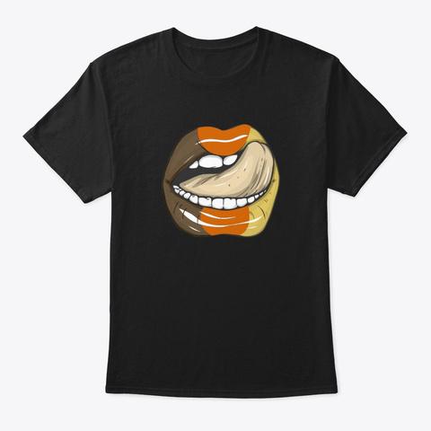 Bear Gay Pride Lgbtq  Lips Party Gift Black T-Shirt Front