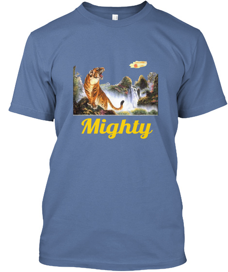 Mighty Denim Blue T-Shirt Front