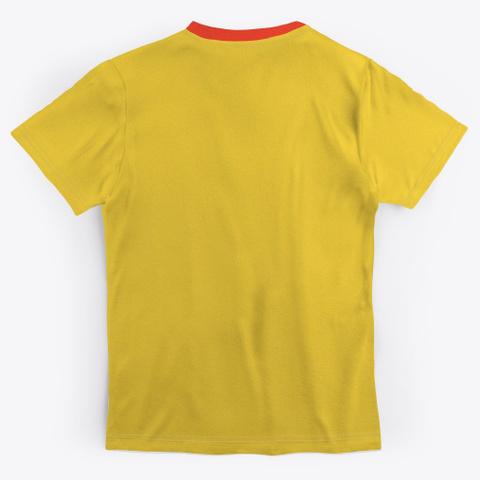 Retro Comic Superhero Body Yellow T-Shirt Back