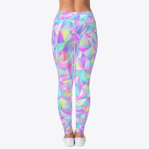 Holograpic Looking Pastel Leggings Standard T-Shirt Back