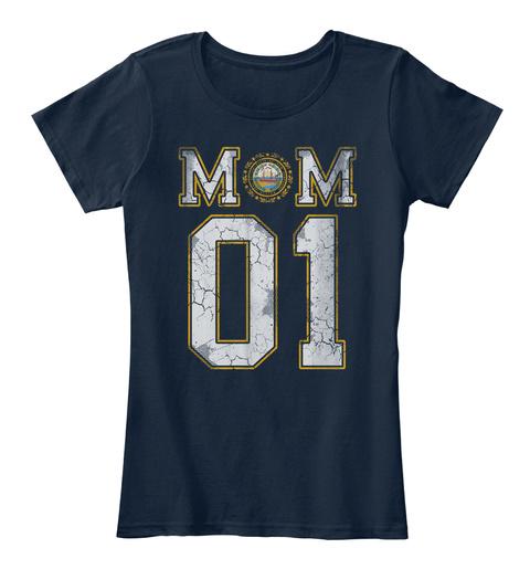 New Hampshire Mom #1 Shirt New Navy T-Shirt Front