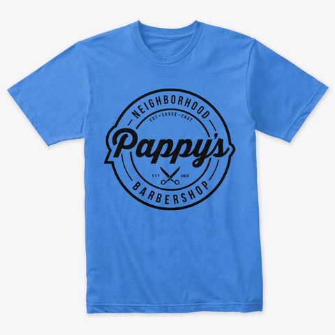 Pappy's Logo Tee Vintage Royal T-Shirt Front