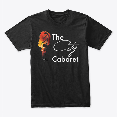 The City Cabaret Dark Collection Black T-Shirt Front