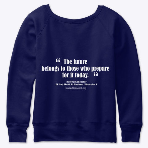Slouchy Queer Mubarak Sweatshirt  Navy  T-Shirt Back