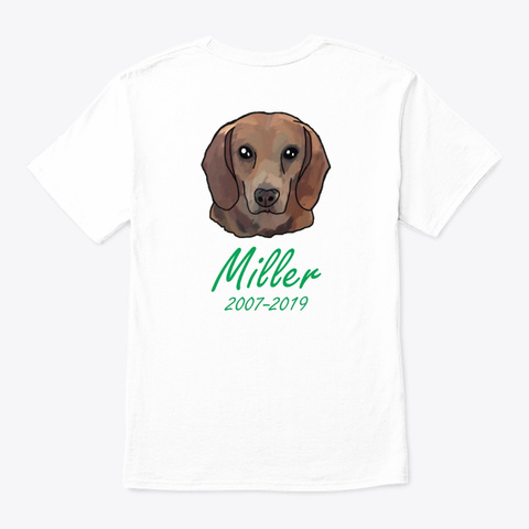 Miller (2007 2019) White T-Shirt Back