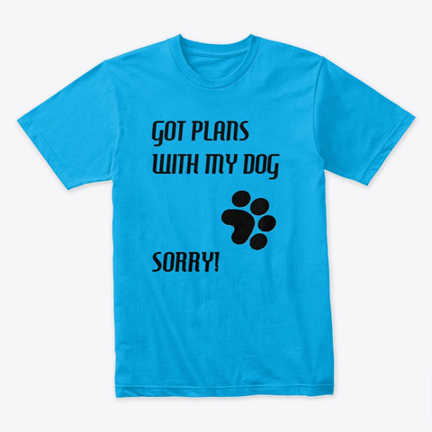 Dog Time Gear Turquoise T-Shirt Front