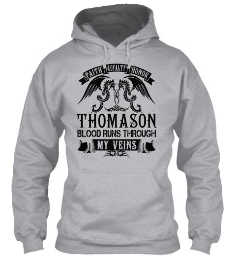 Thomason   My Veins Name Shirts Sport Grey Suéter Front