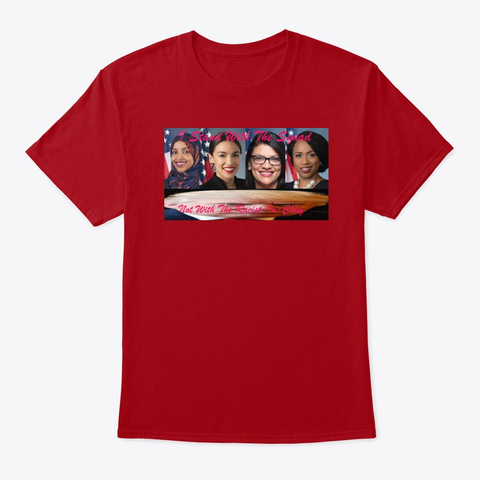 I Support The Squad! Deep Red T-Shirt Front