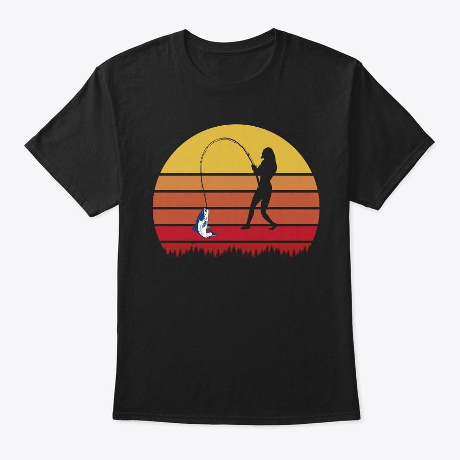 Woman Fishing Retro Funny Gift T Shirt Unisex Tshirt
