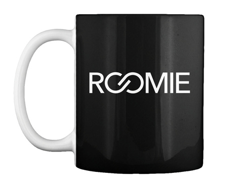 Roomie Black Mug Front