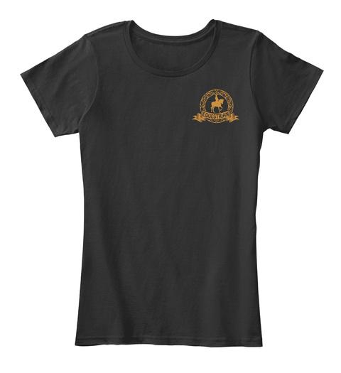 Eoqestrian Black T-Shirt Front