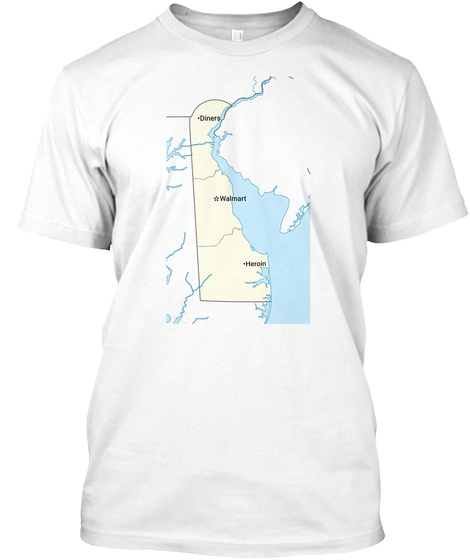 Diners Walmart Heroin White T-Shirt Front