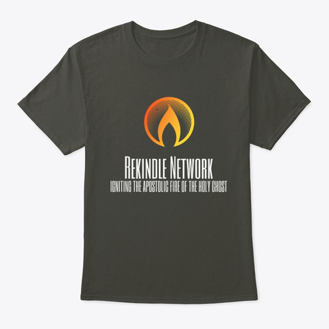 Rekindle Network Official Apparel Smoke Gray T-Shirt Front