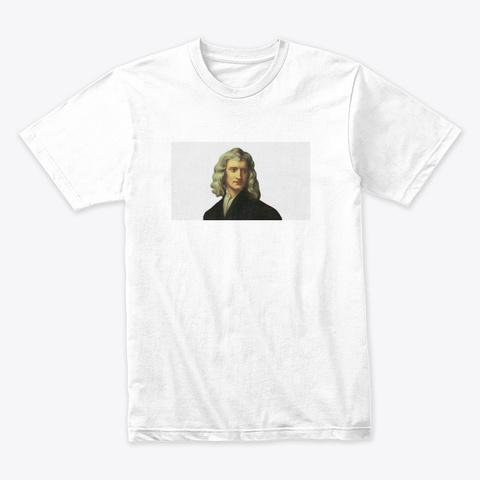 Isaac Newton White T-Shirt Front