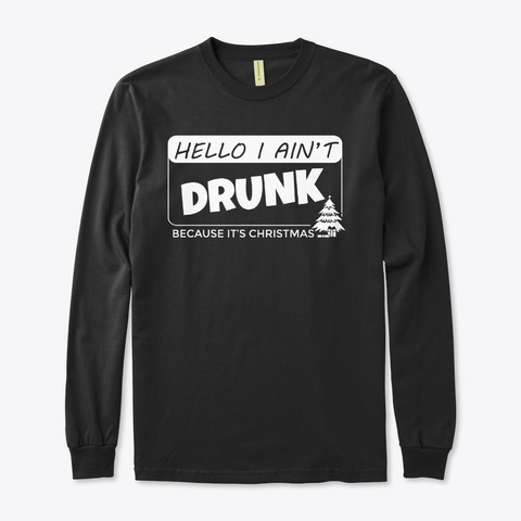 Christmas Drinks Black T-Shirt Front