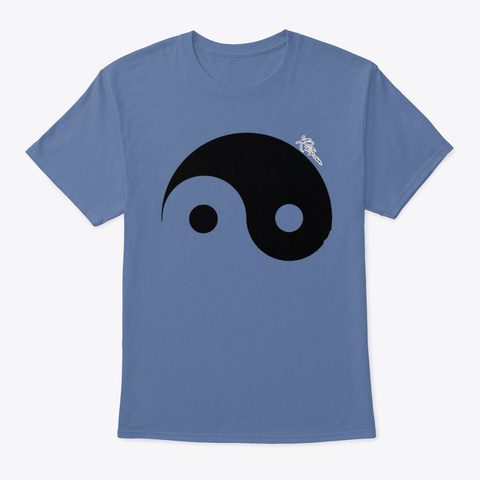 Just The Yin Female Chinese Yin Yang Denim Blue T-Shirt Front