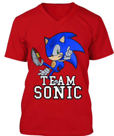 Team Sonic Red T-Shirt Front