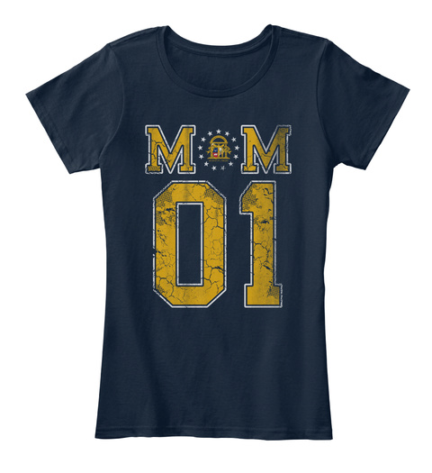 Georgia Mom #1 New Navy T-Shirt Front