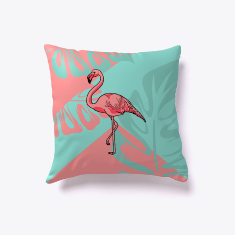 Pink Turquoise Flamingo Pillow Standard T-Shirt Front