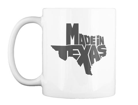 Madein Texas White Mug Front