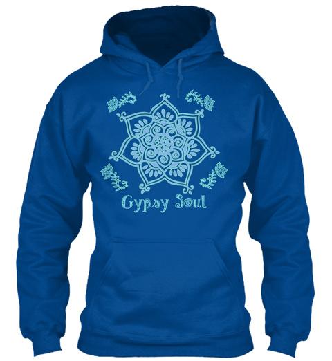 Hoodie Boho Gypsy Soul Bohemian  Yoga Royal T-Shirt Front