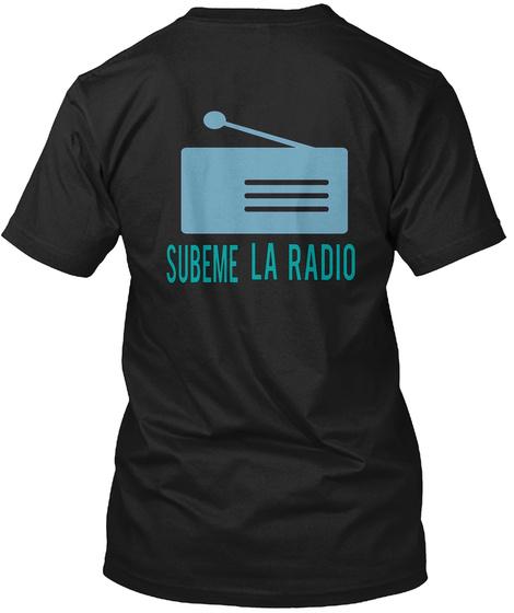Subeme La Radio Black T-Shirt Back