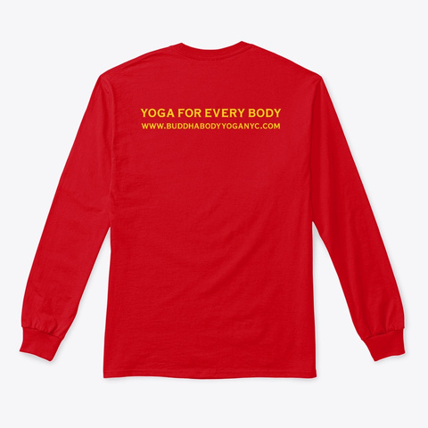 Buddha Body Yoga Balanced Tee Red T-Shirt Back