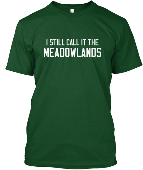 Naming Wrongs: Meadowlands (Green) Deep Forest T-Shirt Front