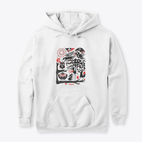 Ethnic Hoodie By Magillian White T-Shirt Front