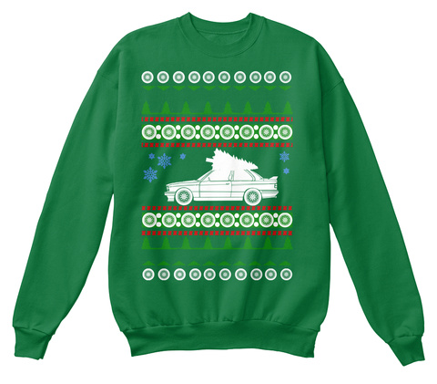 Premium E30 Ugly Christmas Sweater  Kelly Green  T-Shirt Front