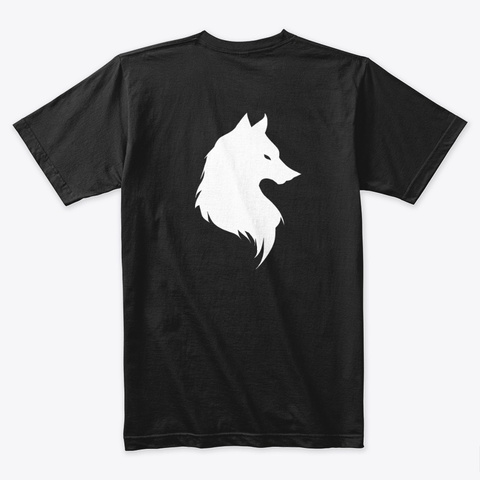 Rollin Royce White Wolf Pack Collection Black T-Shirt Back