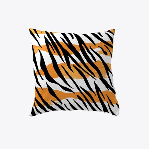 Tiger Pattern Pillow White T-Shirt Front