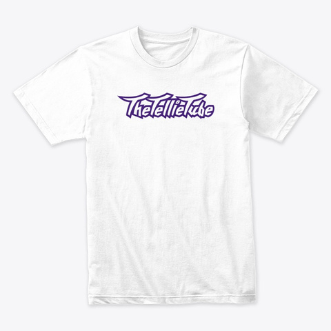 The Tellie Tube Classic Purple White T-Shirt Front